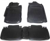 L.Locker Коврики в салон для Honda Civic '06-12, полиуретановые черные