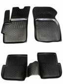 L.Locker Коврики в салон для Mazda 3 '04-09, полиуретановые черные