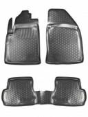 L.Locker Коврики в салон для Ford Fiesta '02-09, полиуретановые черные