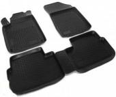 L.Locker Коврики в салон для Peugeot 407 '04-10, полиуретановые черные