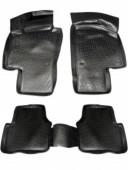 L.Locker Коврики в салон для Volkswagen Passat B6 '05-10, полиуретановые черные