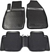 L.Locker Коврики в салон для Ford Fiesta '09-, полиуретановые черные комплект