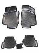 L.Locker Коврики в салон для Volkswagen Jetta V '05-10, полиуретановые черные