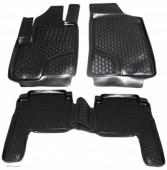 L.Locker Коврики в салон для Hyundai Santa Fe '06-10, полиуретановые черные