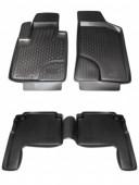 L.Locker Коврики в салон для Hyundai Santa Fe '10-12, полиуретановые черные