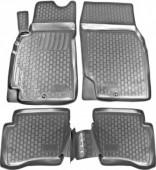 L.Locker Коврики в салон для Nissan Almera 06-, полиуретановые черные