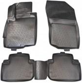L.Locker Коврики в салон для Mitsubishi Outlander '12-, полиуретановые черные