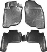 L.Locker Коврики в салон для Mitsubishi Pajero Sport '08-16, полиуретановые черные