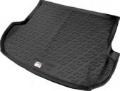 L.Locker Коврик в багажник Hyundai Santa Fe '10-12, полимерный пластик черный