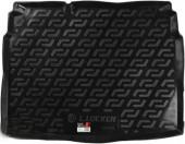 L.Locker Коврик в багажник Volkswagen Golf VI '09-12 хетчбэк, полимерный пластик черный
