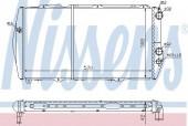 Nissens 604551 Радиатор охлаждения двигателя