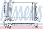 Nissens 60703A Радиатор охлаждения двигателя