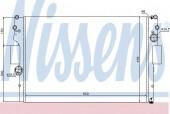 Nissens 61981 Радиатор охлаждения двигателя