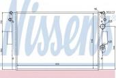 Nissens 61985 Радиатор охлаждения двигателя