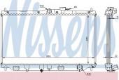 Nissens 62279A Радиатор охлаждения двигателя