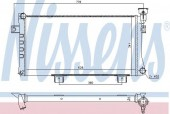 NISSENS 623556 Радиатор охлаждения двигателя
