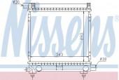 Nissens 62551 Радиатор охлаждения двигателя