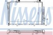Nissens 62750A Радиатор охлаждения двигателя