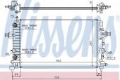 NISSENS 630702 Радиатор охлаждения двигателя