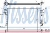 Nissens 63072A Радиатор охлаждения двигателя