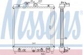 NISSENS 633081 Радиатор охлаждения двигателя