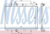 Nissens 636007 Радиатор охлаждения двигателя