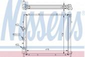 NISSENS 63854A Радиатор охлаждения двигателя