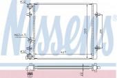 Nissens 641011 Радиатор охлаждения двигателя