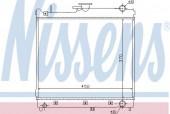 Nissens 64162 Радиатор охлаждения двигателя