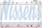 Nissens 64185 Радиатор охлаждения двигателя