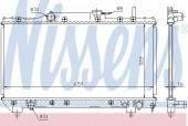 Nissens 64838A Радиатор охлаждения двигателя