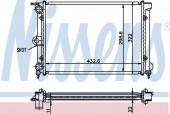 Nissens 651631 Радиатор охлаждения двигателя