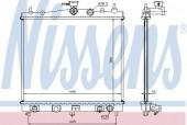 Nissens 68700A Радиатор охлаждения двигателя