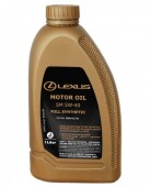 Lexus 5W-40 Оригинальное синтетическое моторное масло