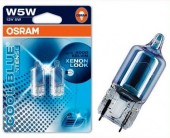 Osram Cool Blue Intense 2825 W5W 12V 5W Автолампа галогенная, 2шт