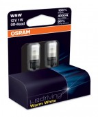 Osram Ledriving Warm White 2850 W5W 12V 1W ��������� ������������, 2��