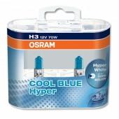 Osram Cool blue hyper 62151 H3 12V 70W Автолампа галогенная, 2шт
