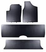 Geyer Hosaja Коврики в салон для VW Sharan / Seat Alhambra '96-10 / Ford Galaxy '96-06 7 мест, резиновые черные