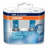 Osram Cool Blue Hyper H4 12V 60/55W Автолампа галогенная, 2шт