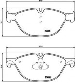 BREMBO P 06 076 Тормозные колодоки, к-т дисковые