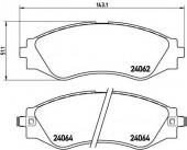 BREMBO P 10 006 Тормозные колодоки, к-т дисковые