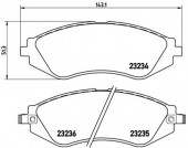BREMBO P 15 002 Тормозные колодоки, к-т дисковые