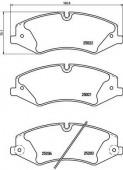 BREMBO P 44 022 Тормозные колодоки, к-т дисковые