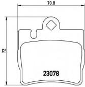 BREMBO P 50 042 Тормозные колодоки, к-т дисковые