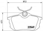 BREMBO P 54 023 Тормозные колодоки, к-т дисковые