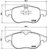 BREMBO P 59 043 Тормозные колодоки, к-т дисковые