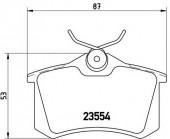 BREMBO P 85 017 Тормозные колодоки, к-т дисковые