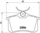 BREMBO P 85 020 Тормозные колодоки, к-т дисковые
