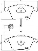 BREMBO P 85 084 Тормозные колодоки, к-т дисковые