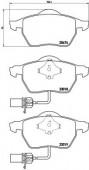 BREMBO P 85 085 Тормозные колодоки, к-т дисковые